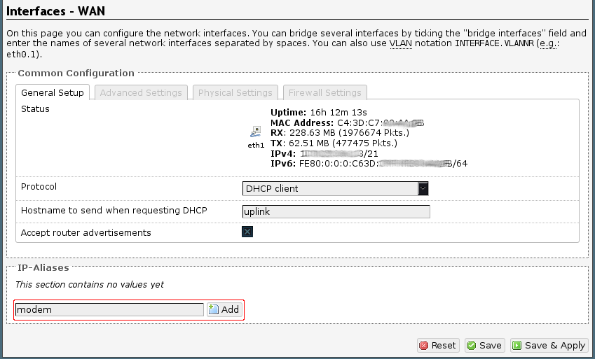 Accessing your modem [OpenWrt Wiki]