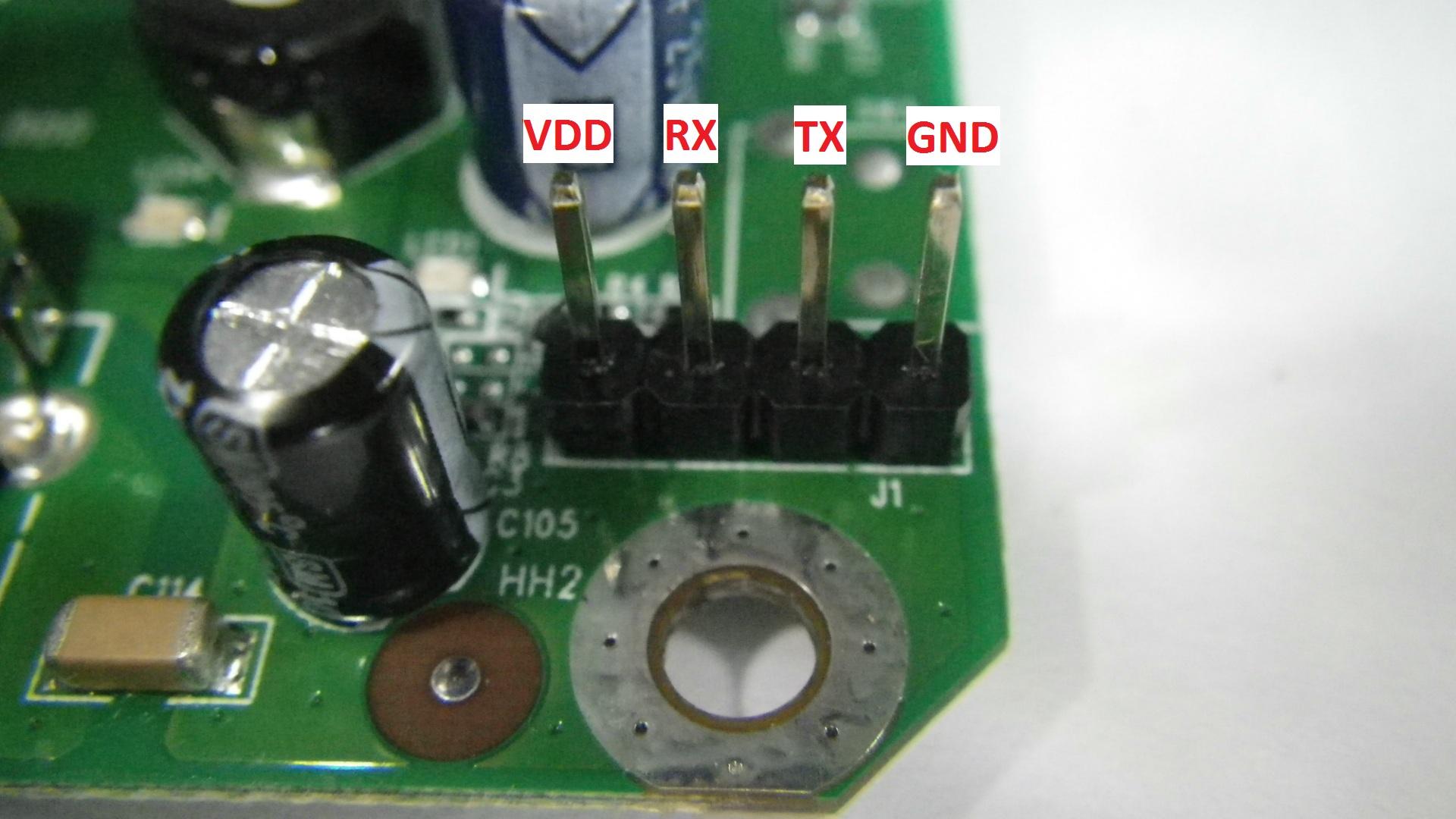 Hornet-UB PCB Serial pins