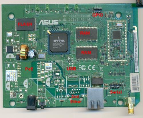 Asus WL320gE PCB