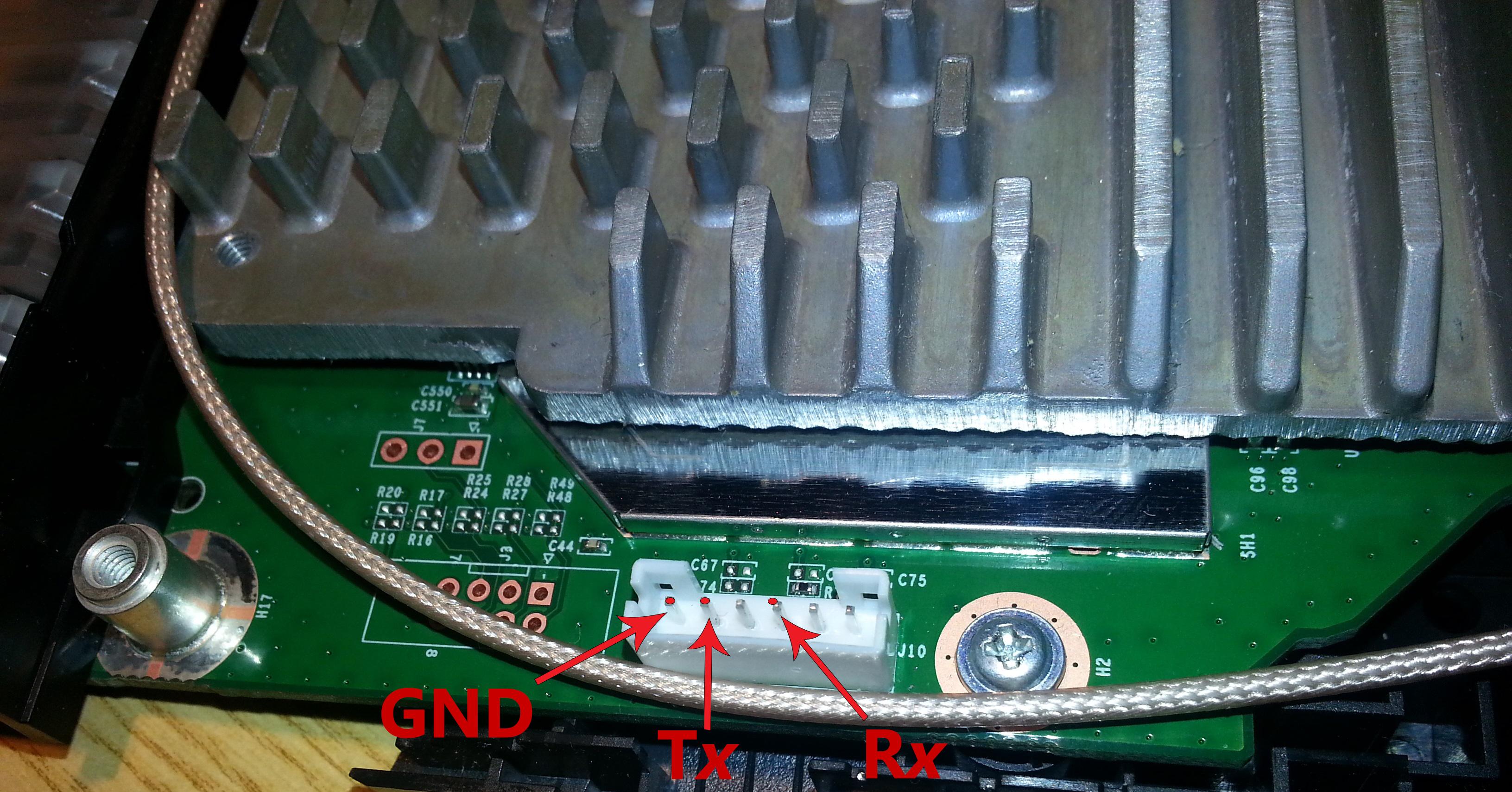 WRT1900AC v1 Serial Header