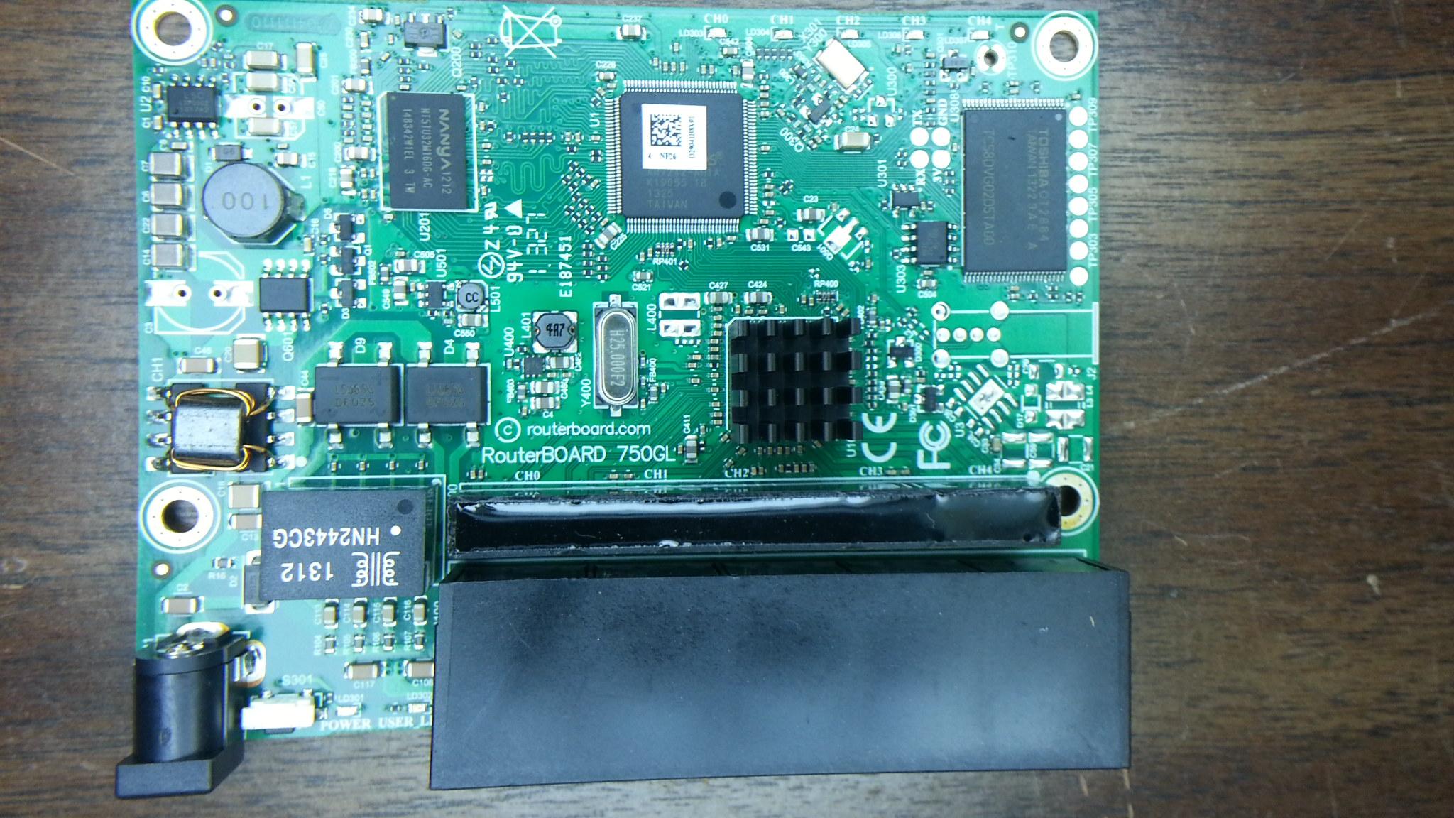 Mikrotik RB750GL Top View