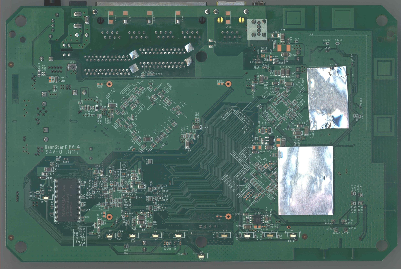Netgear WNDR3700 PCB bottom side
