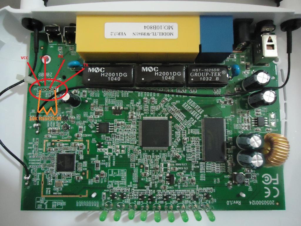 TL-WR841N v7.2 serial pinout